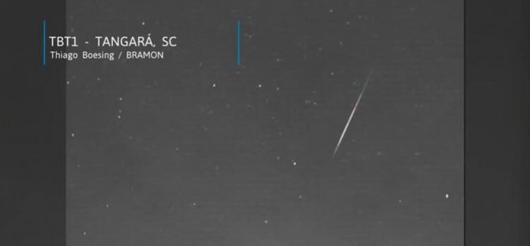 Um meteoro vindo de fora do sistema solar é registrado em Santa Catarina