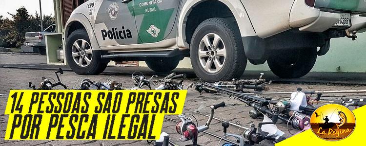 Polícia Ambiental multa 14 pessoas por pesca irregular em São Paulo
